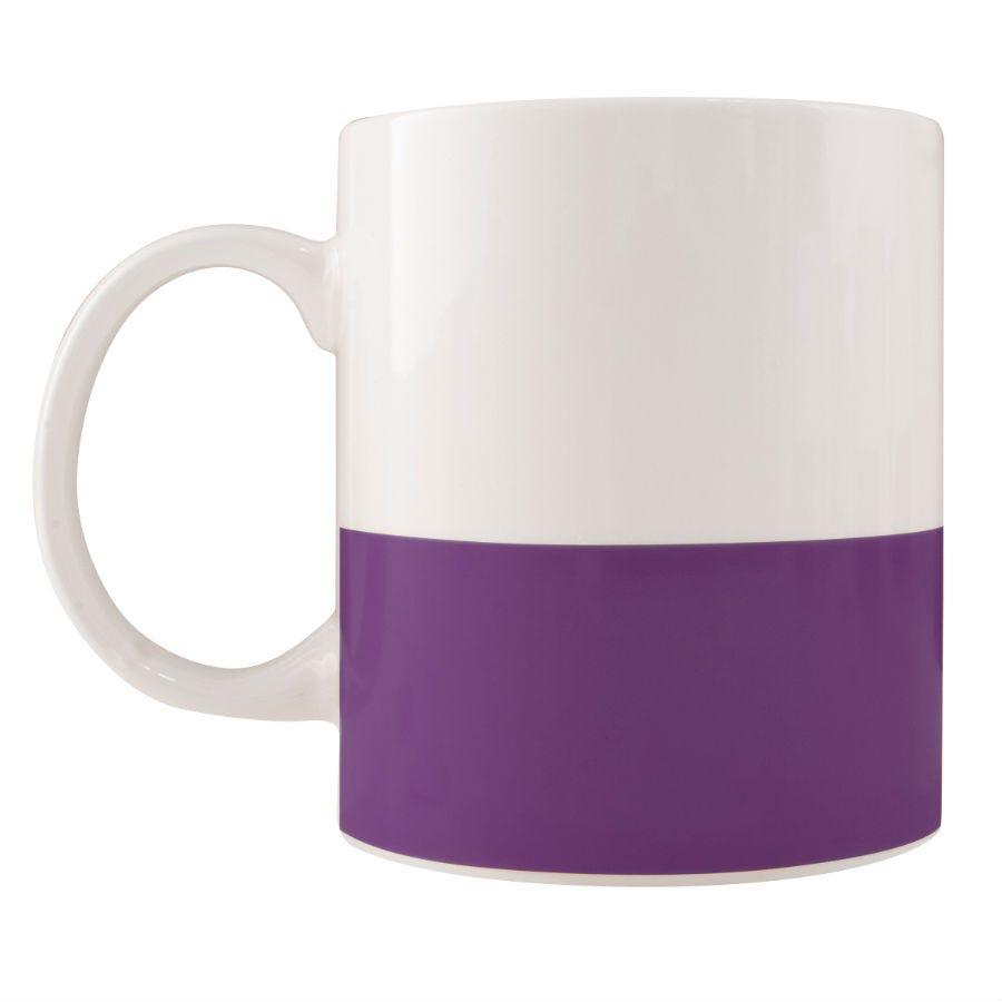 Robert Dyas/Home Interiors/Kitchen/Colour Block Mug – Purple