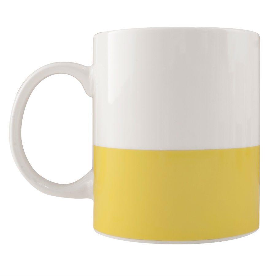 Robert Dyas/Home Interiors/Kitchen/Colour Block Mug – Yellow