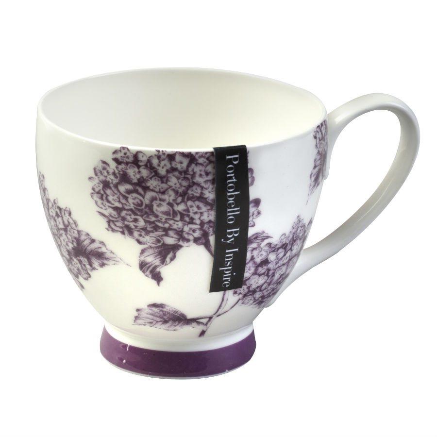 Image of Portobello Hydrangea Fine Bone China Mug