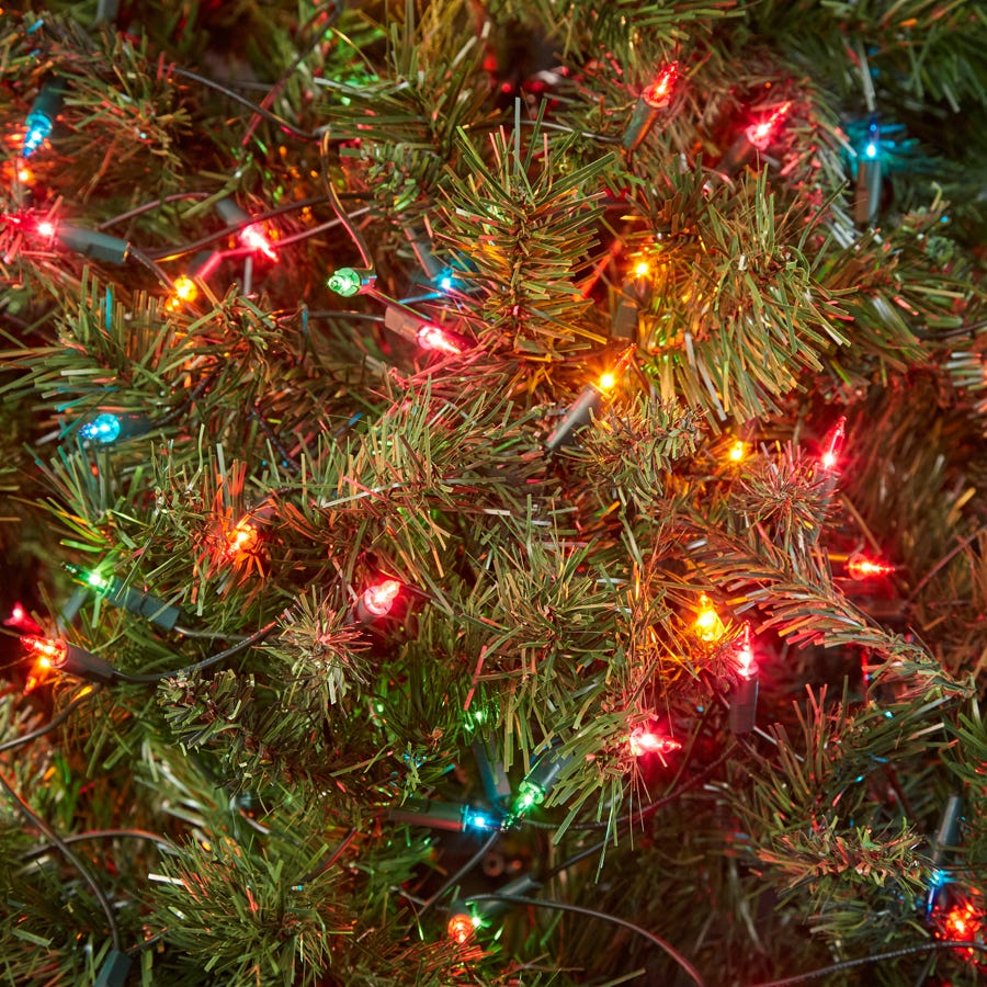 Robert Dyas Christmas 100 Battery-Operated Multi-Coloured Multi-Action LED Indoor Lights