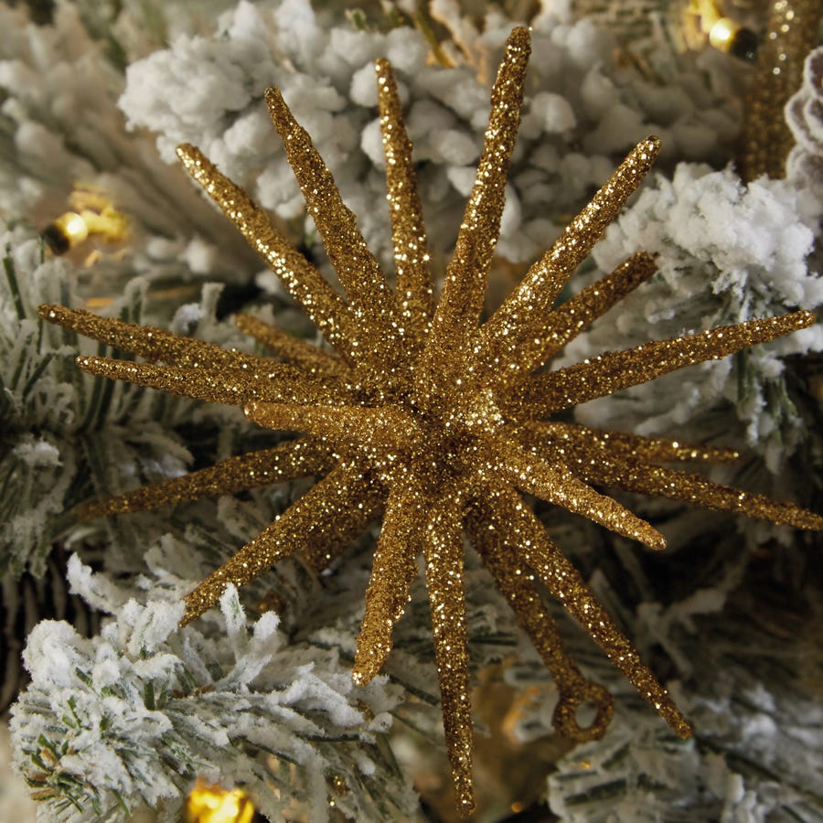Compare cheap offers & prices of Robert Dyas Christmas Glitter Sputnik Tree Decorations - Set of 3 - Gold manufactured by Robert Dyas Christmas