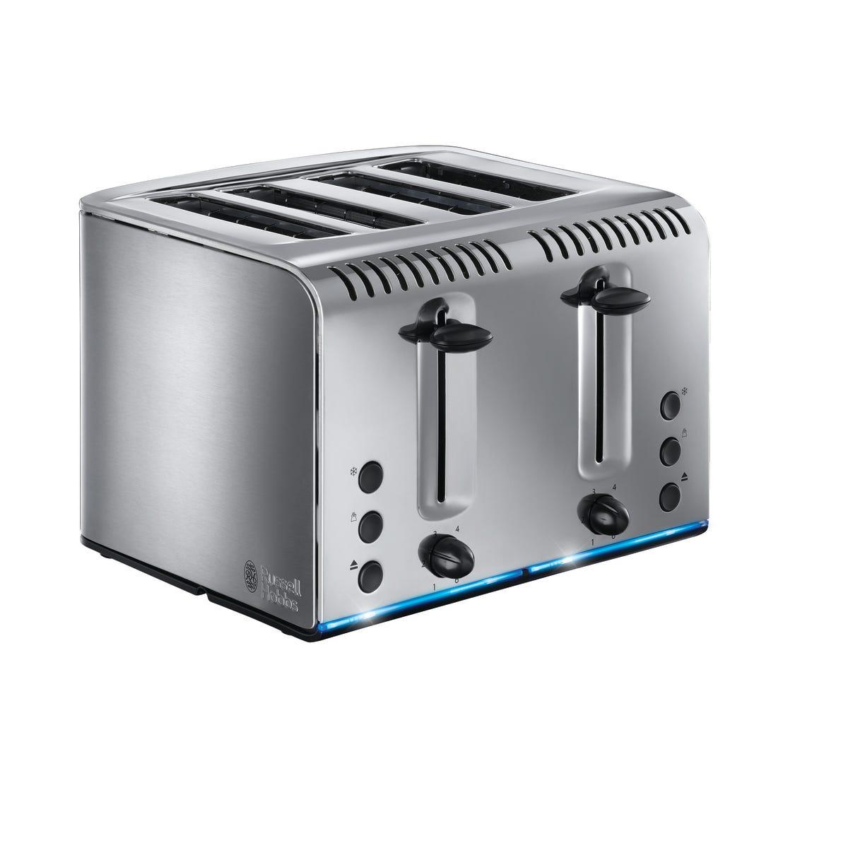 Russell Hobbs 20750 Buckingham 4 Slice Toaster - Silver