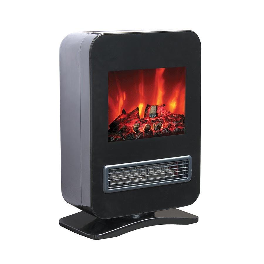 Image of Fine Elements 2000W Desktop Flame-Effect Fan Heater