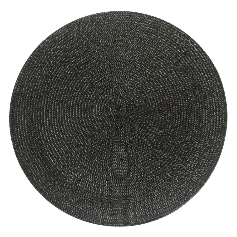 Image of Round Woven Placemat – Black