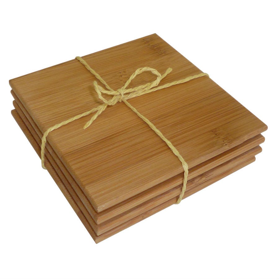 Image of Bamboo Coasters – Set of 4