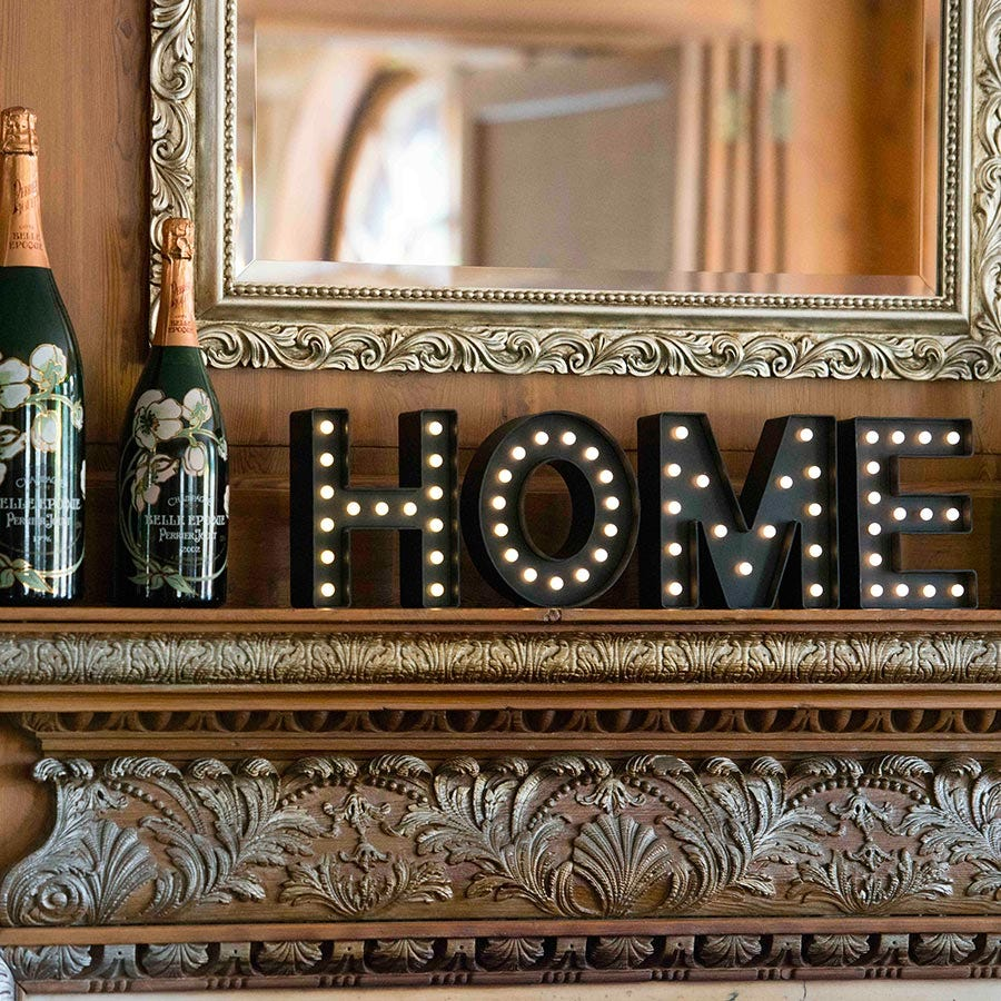 Image of Marquee Light-Up Letters – Home