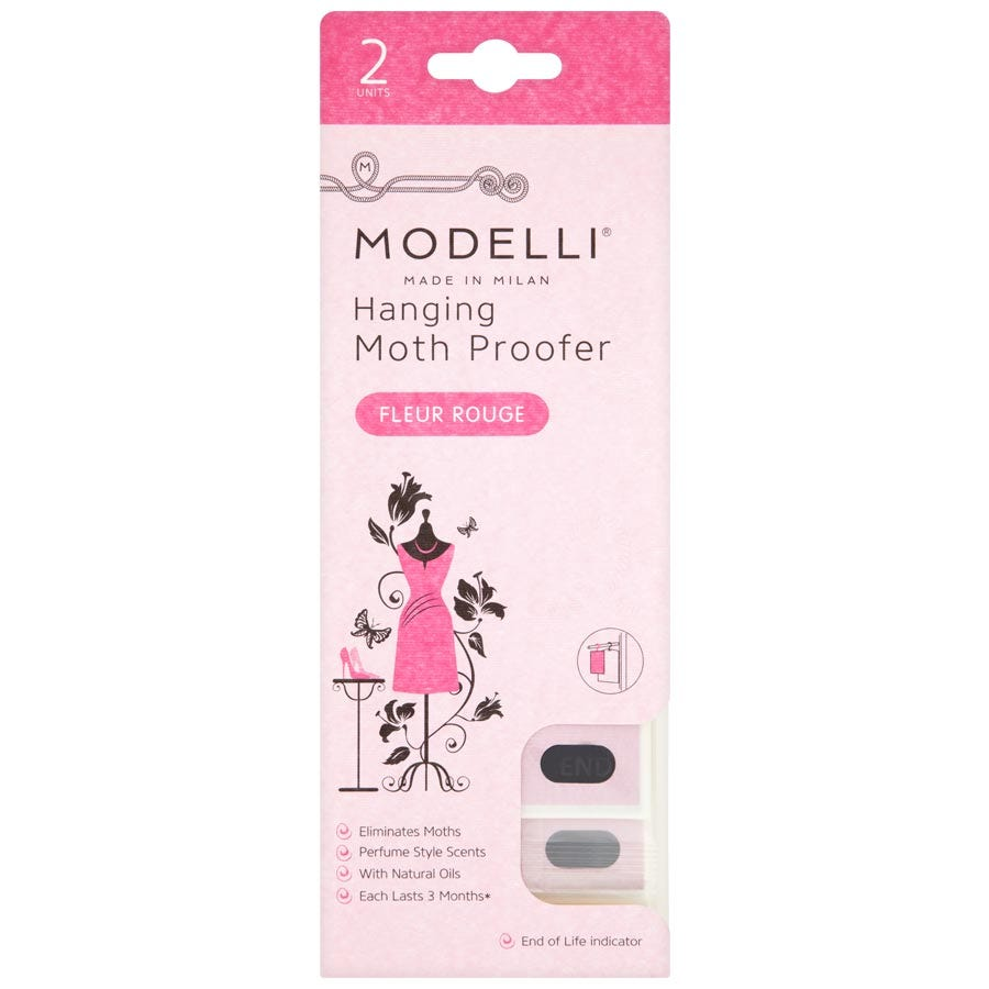 Acana Modelli Hanging Moth Proofers - 2 Pack, Fleur Rouge