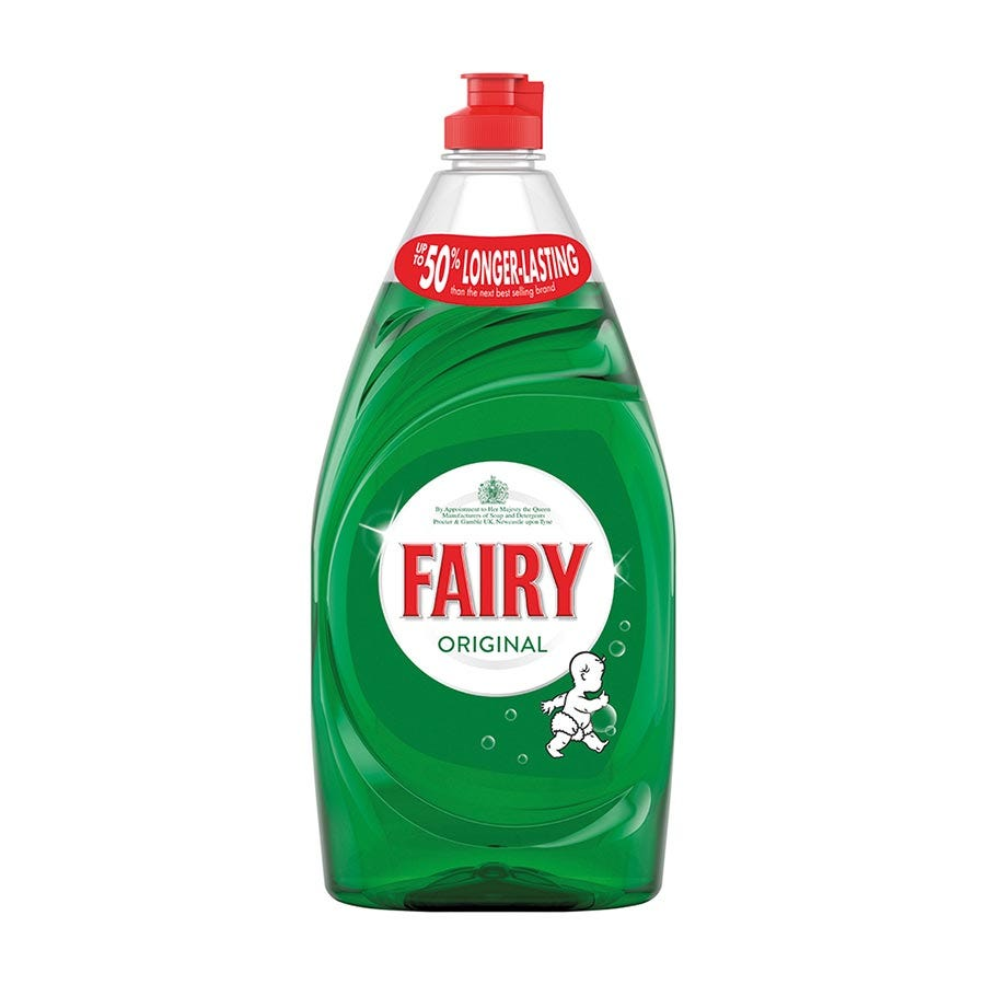 Robert Dyas/Cleaning & Decorating/Cleaning Equipment/Fairy Washing Up Liquid Original – 780ml