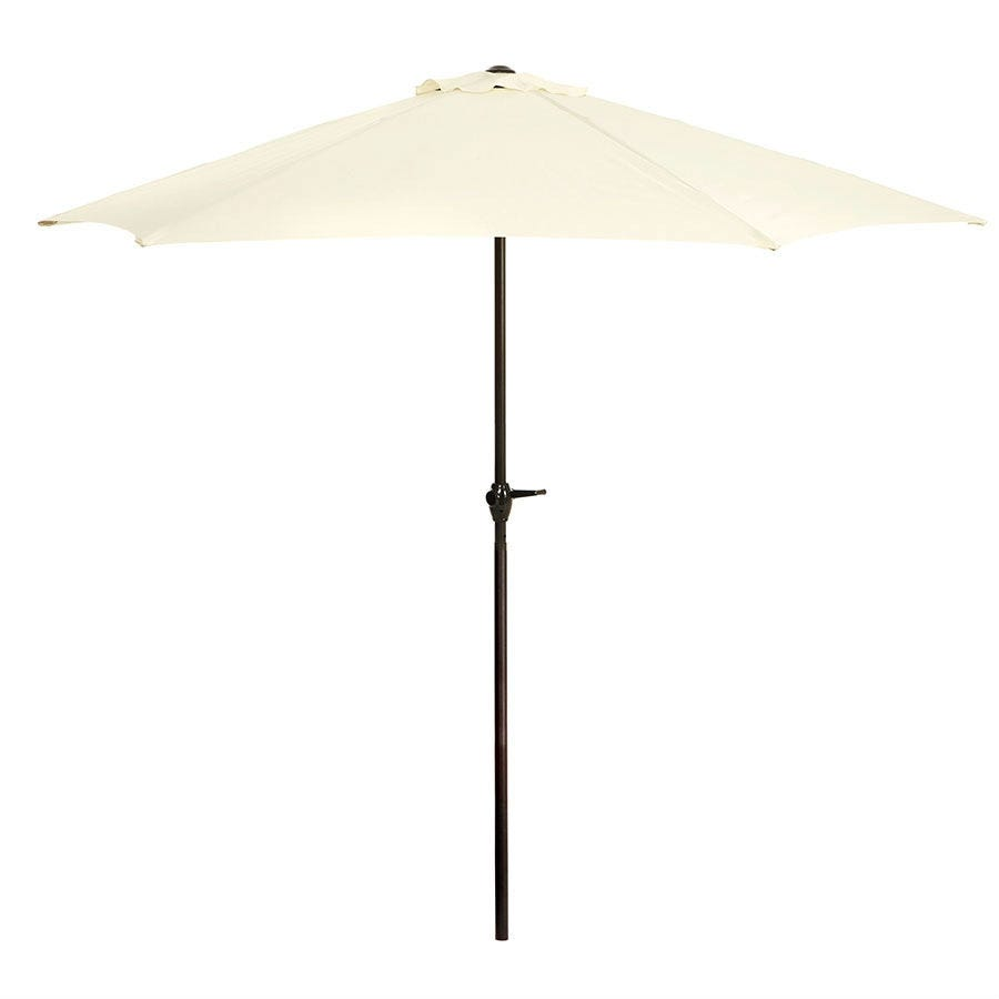 Kingfisher 2.7m Large Garden Parasol with Metal Frame (base not included) - Cream