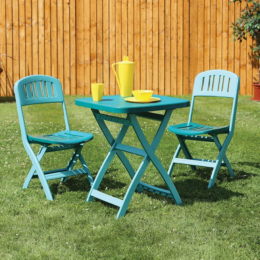 Image of Quest Elite Provence 2-Seater Bistro Set – Green