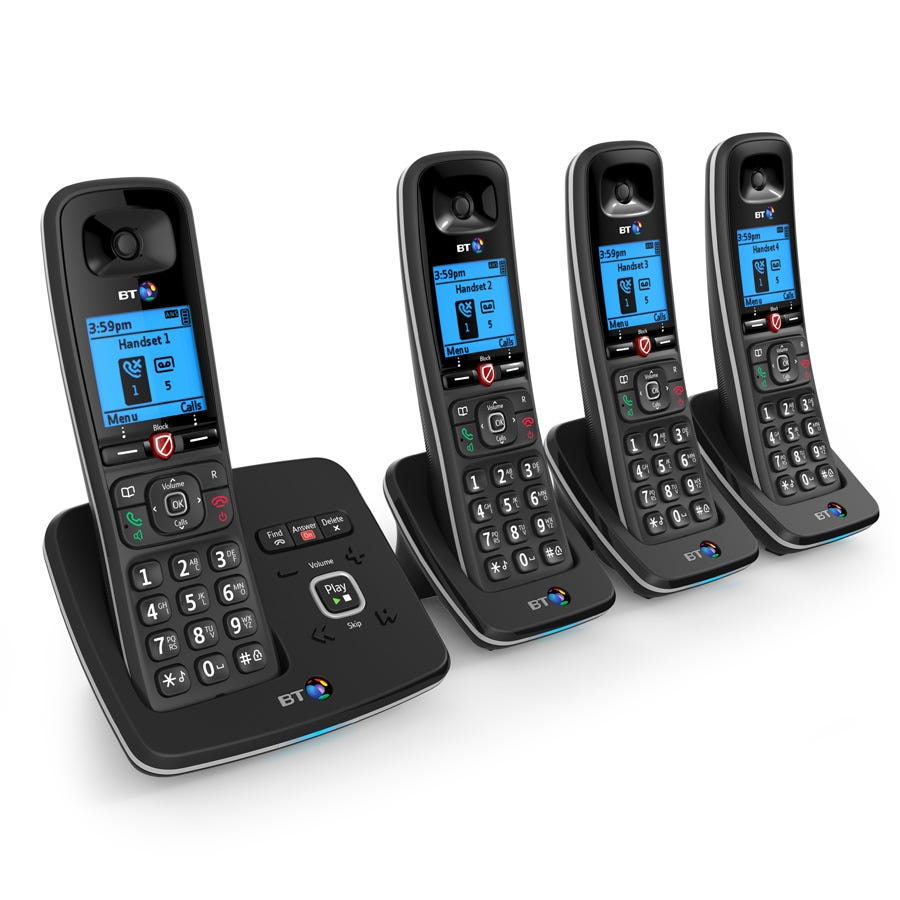 BT 6610 Cordless Telephone with Answering Machine - Quad