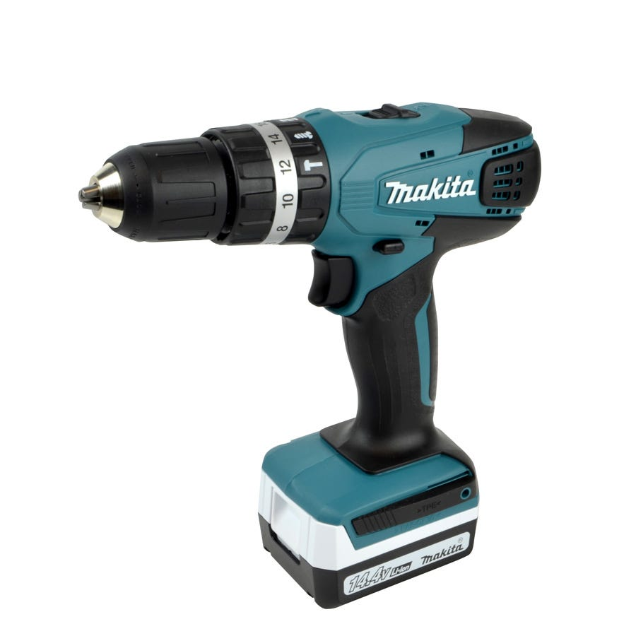 Makita G-Series 14.4V Li-Ion Cordless Combi Drill with 74-Piece Accessory Kit