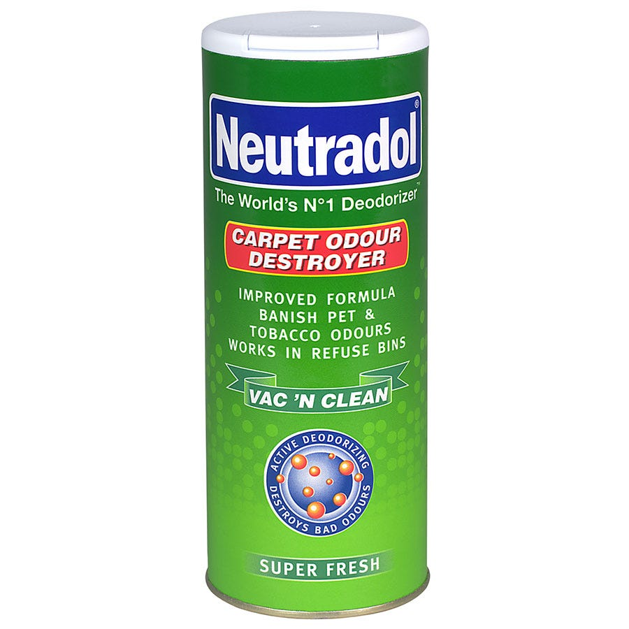 Robert Dyas/Cleaning & Decorating/Cleaning Equipment/Neutradol Super Fresh Carpet Deodoriser – 350g