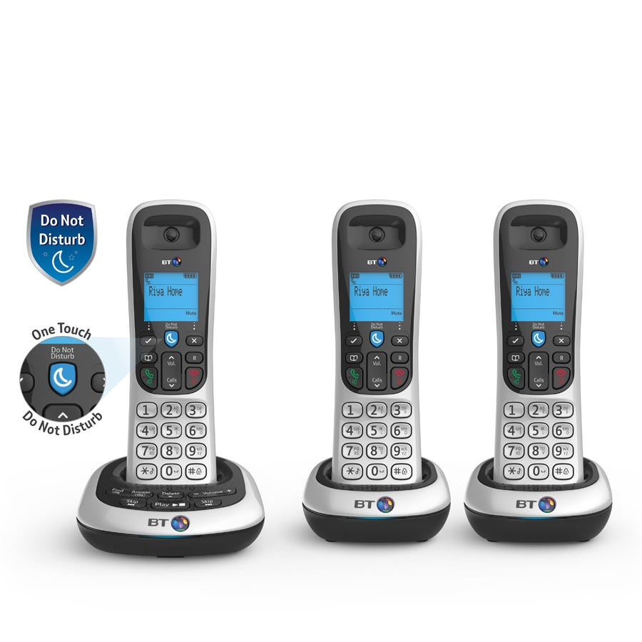 BT 2600 Cordless Telephone with Answering Machine - Trio
