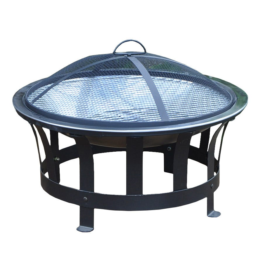 Kingfisher Bonnington Garden Fire Pit with Integrated BBQ