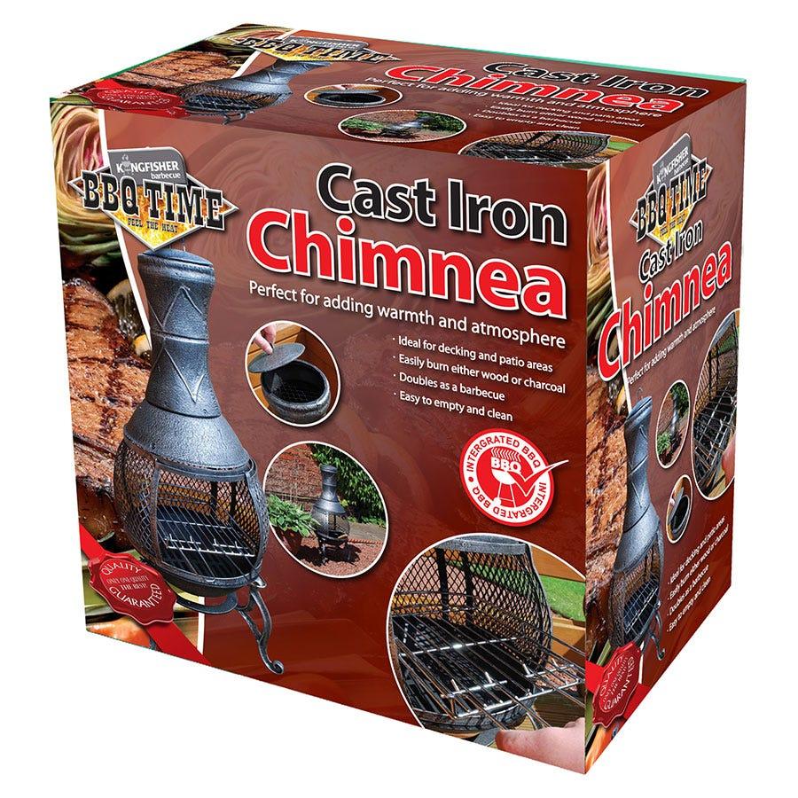 Kingfisher Bonnington Steel Chiminea - Black