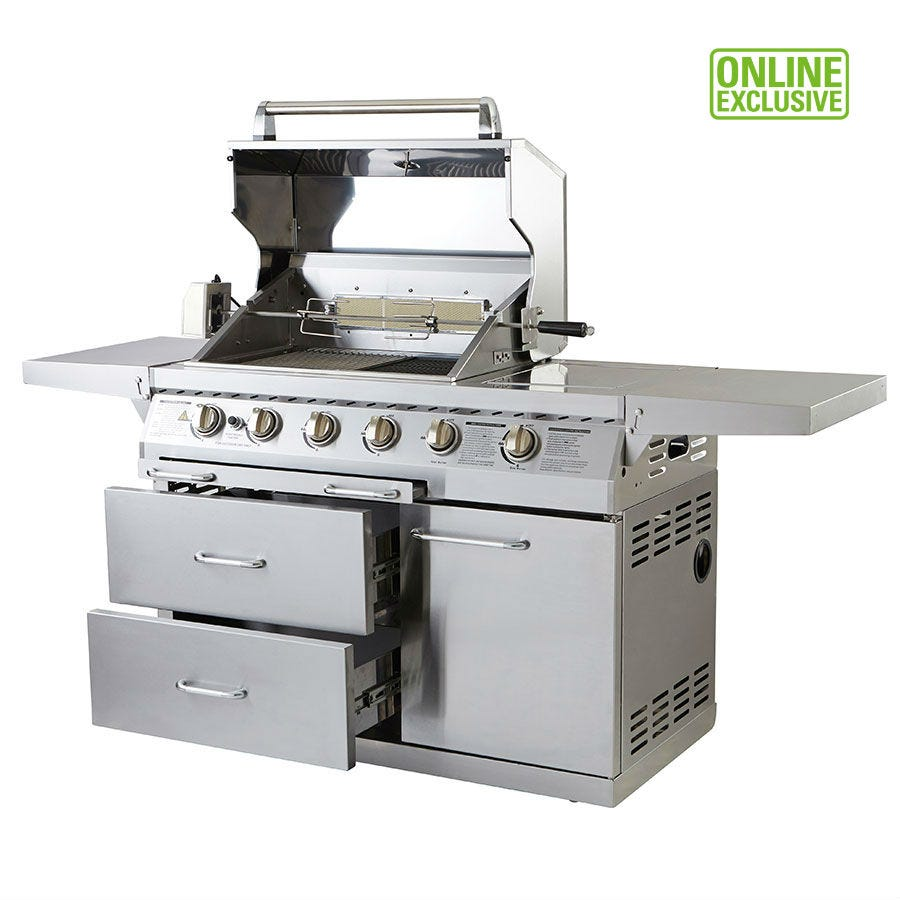 Image of Outback Signature 4-Burner Gas BBQ with Rotisserie