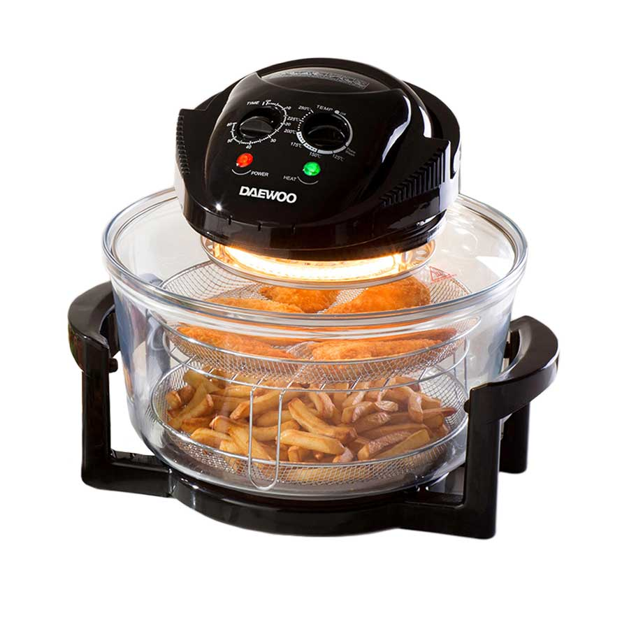 Compare retail prices of Daewoo Halogen Air Fryer Low Fat Oven with 12L Capacity to get the best deal online