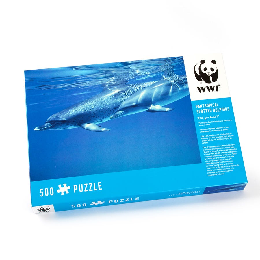 WWF Dolphin 500-Piece Puzzle