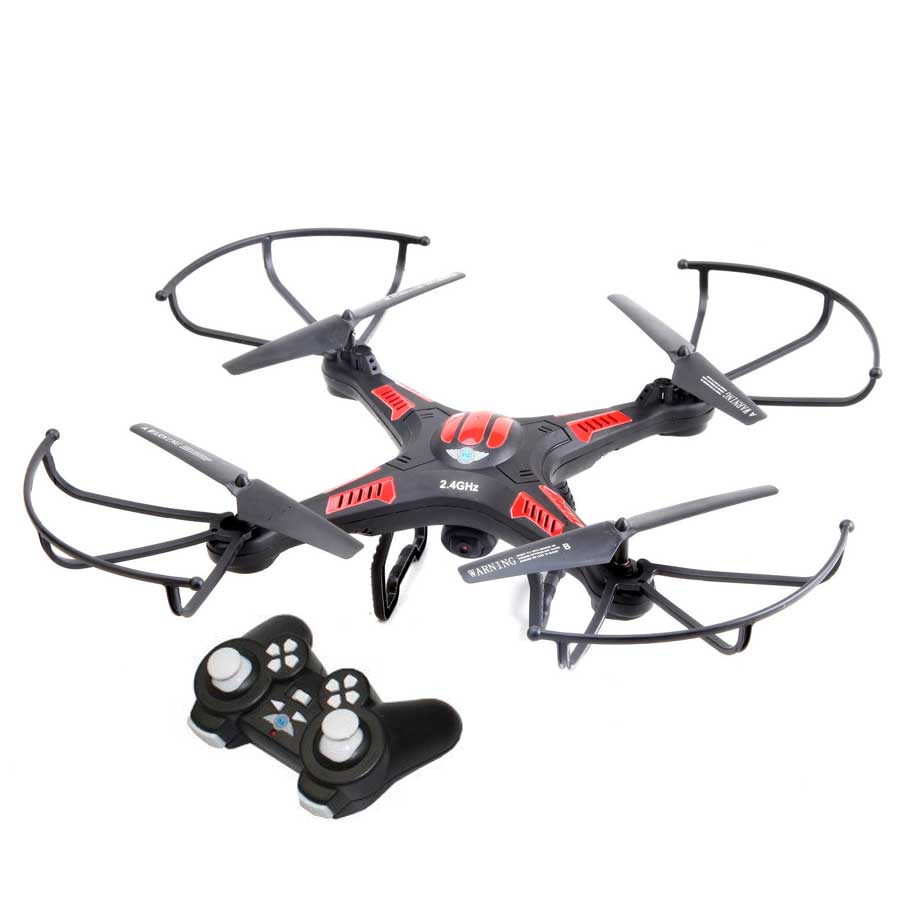 Image of Flying Gadgets X-Cam Quadcopter Drone with HD Video Camera - Black