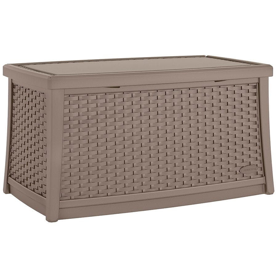Image of Suncast 114L Coffee Table with Storage – Dark Taupe