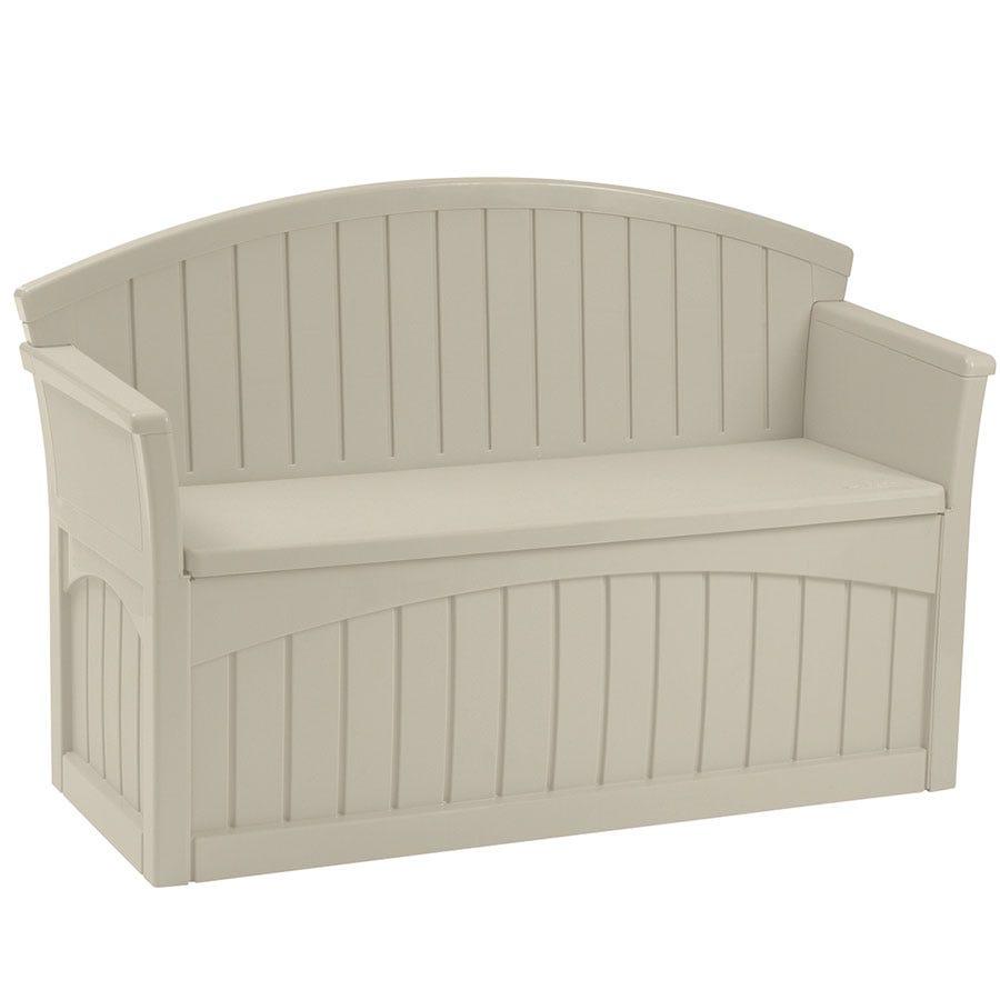 Image of Suncast 189L Storage Patio Seat – Taupe
