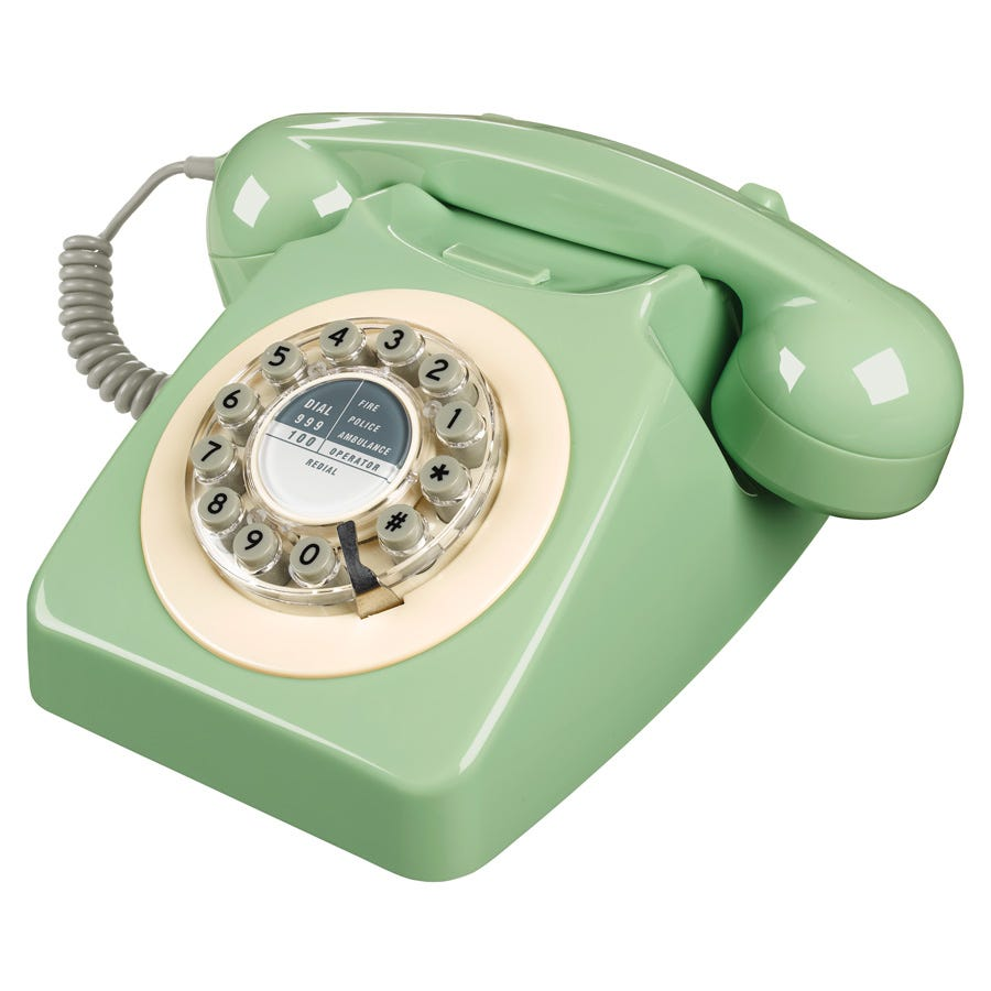 Compare prices for Wild and Wolf 1960s Design 746 Corded Telephone- Green