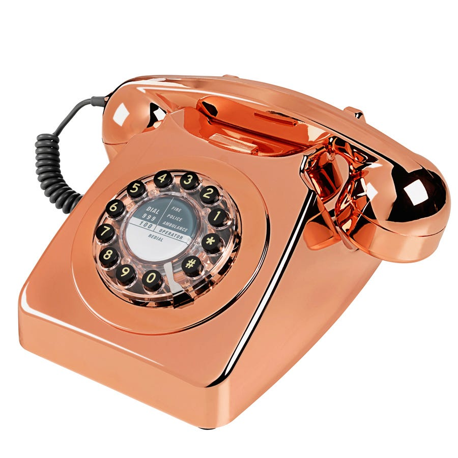 Compare prices for Wild and Wolf Wild and Wolf 746 Telephone - Copper