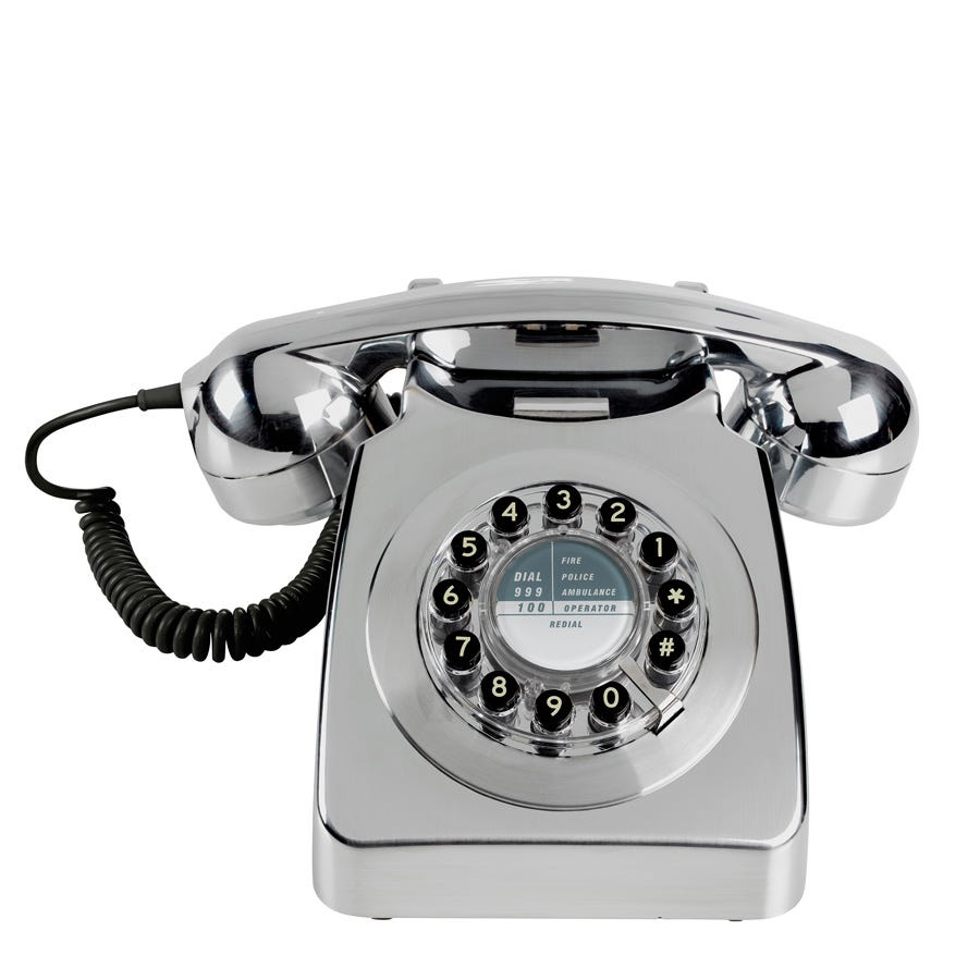 Compare prices for Wild and Wolf 1960s Design 746 Corded Telephone - Chrome