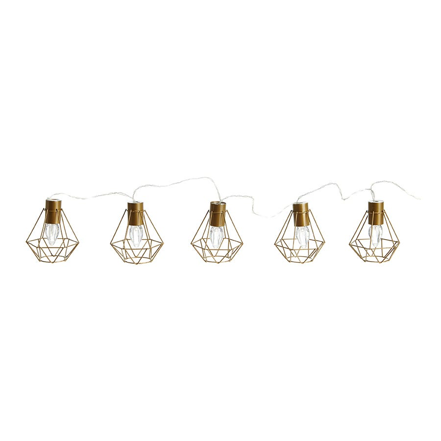 Battery Powered Moroccan Lantern String Lights