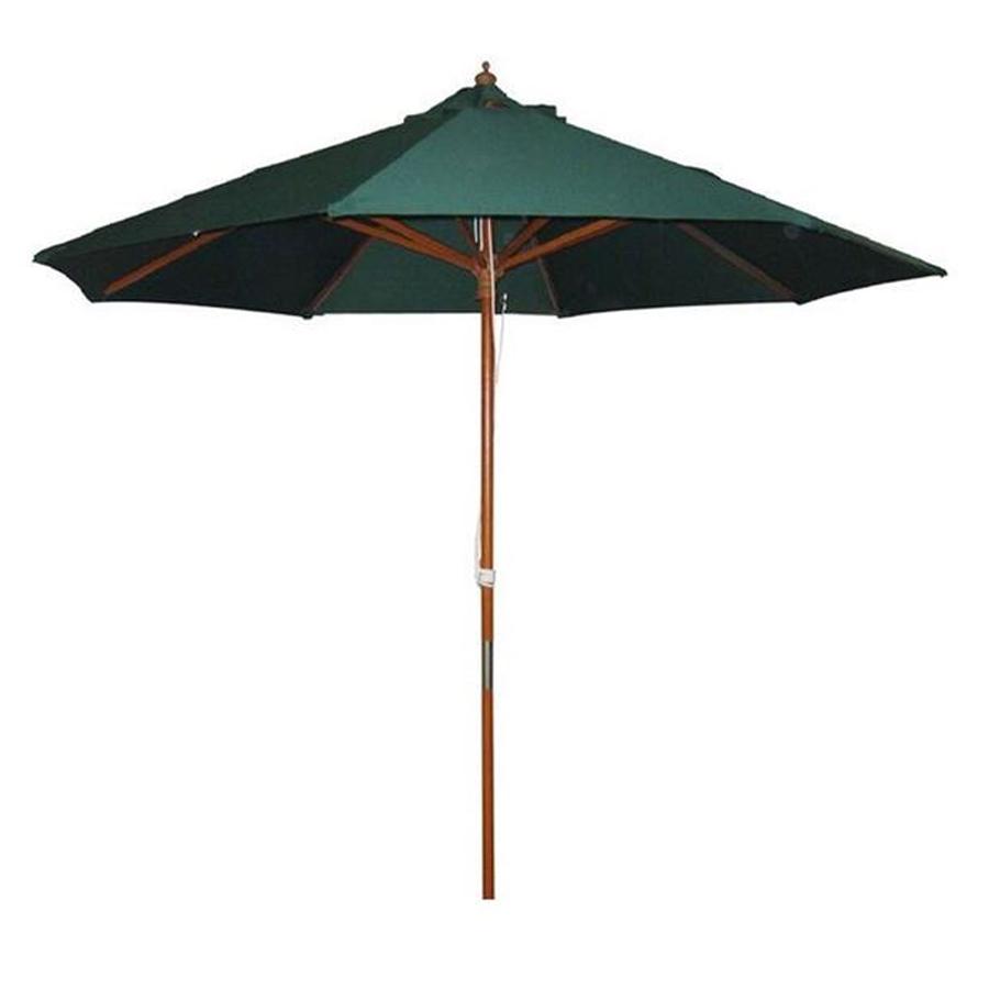 2.4m Wooden Parasol – Green
