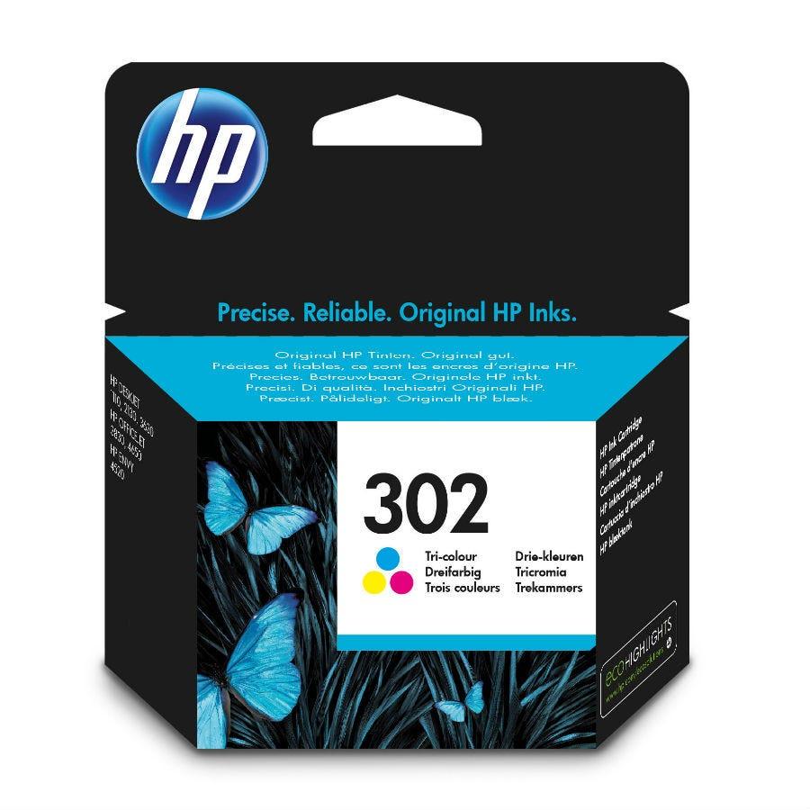 HP Hewlett-Packard 302 Tri-Colour Ink Cartridge