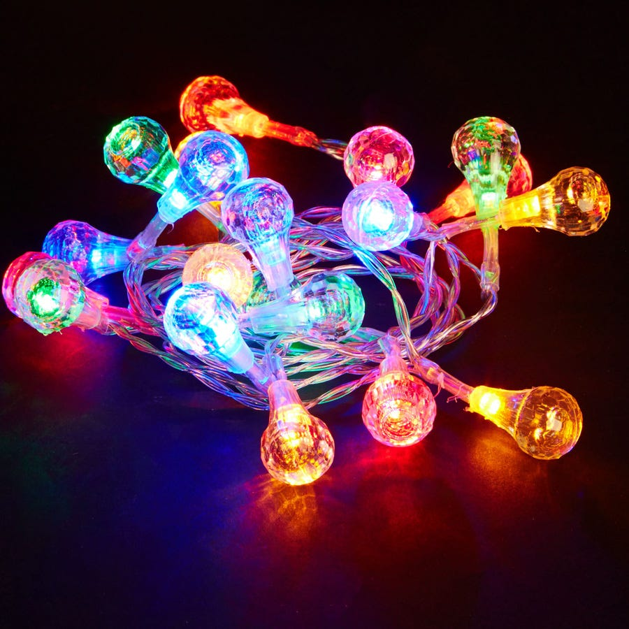 20 Multi-Coloured LED Ball Lights – Battery Powered