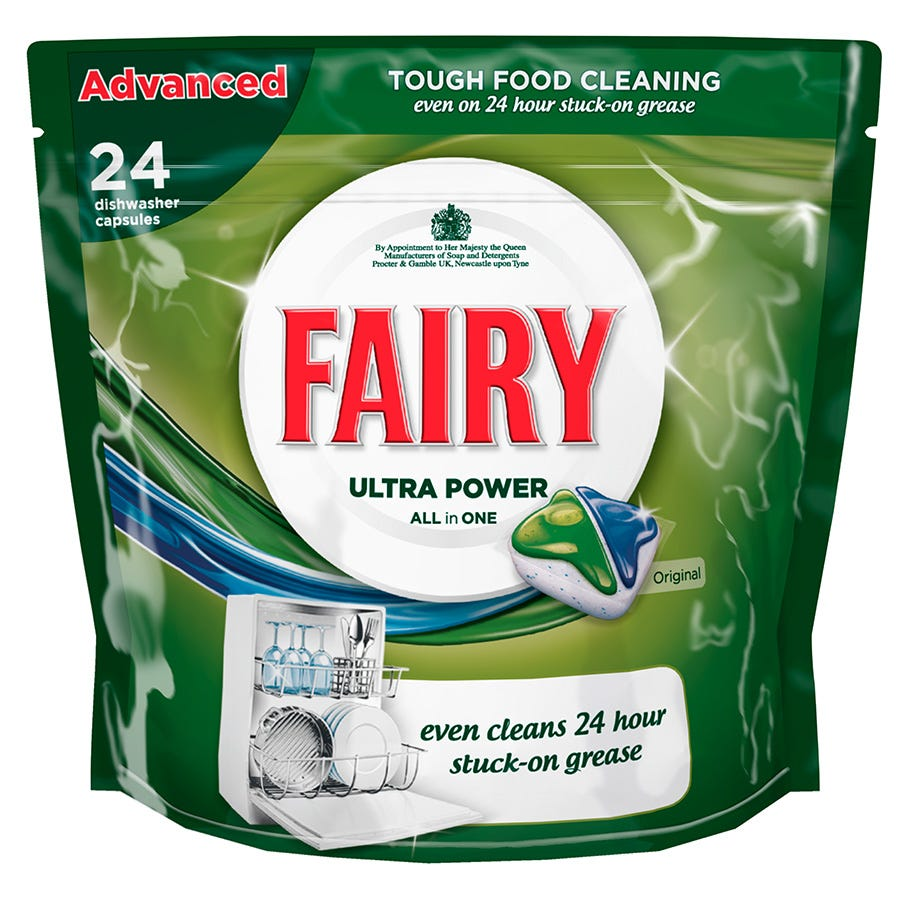 Image of Fairy All-in-One Original Dishwasher Tablets – 24 Pack