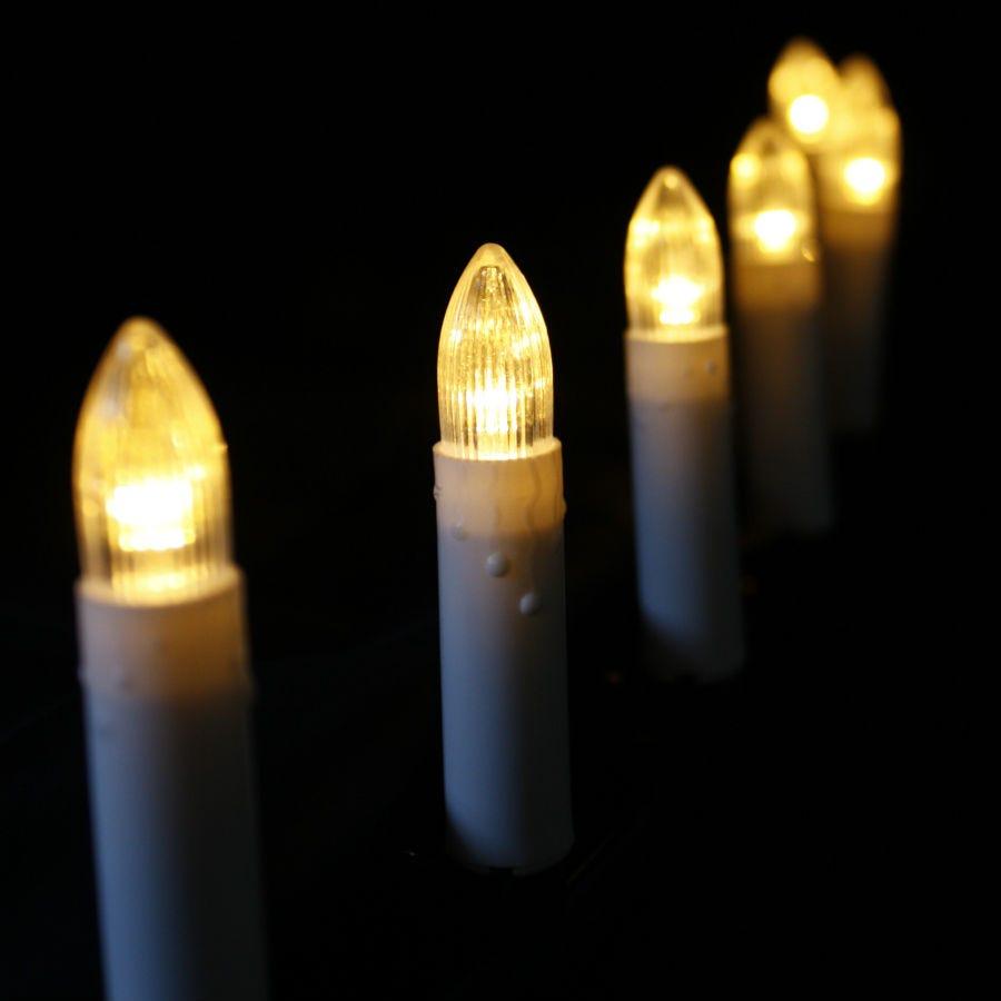 10 battery operated clip on led candle lights. Black Bedroom Furniture Sets. Home Design Ideas