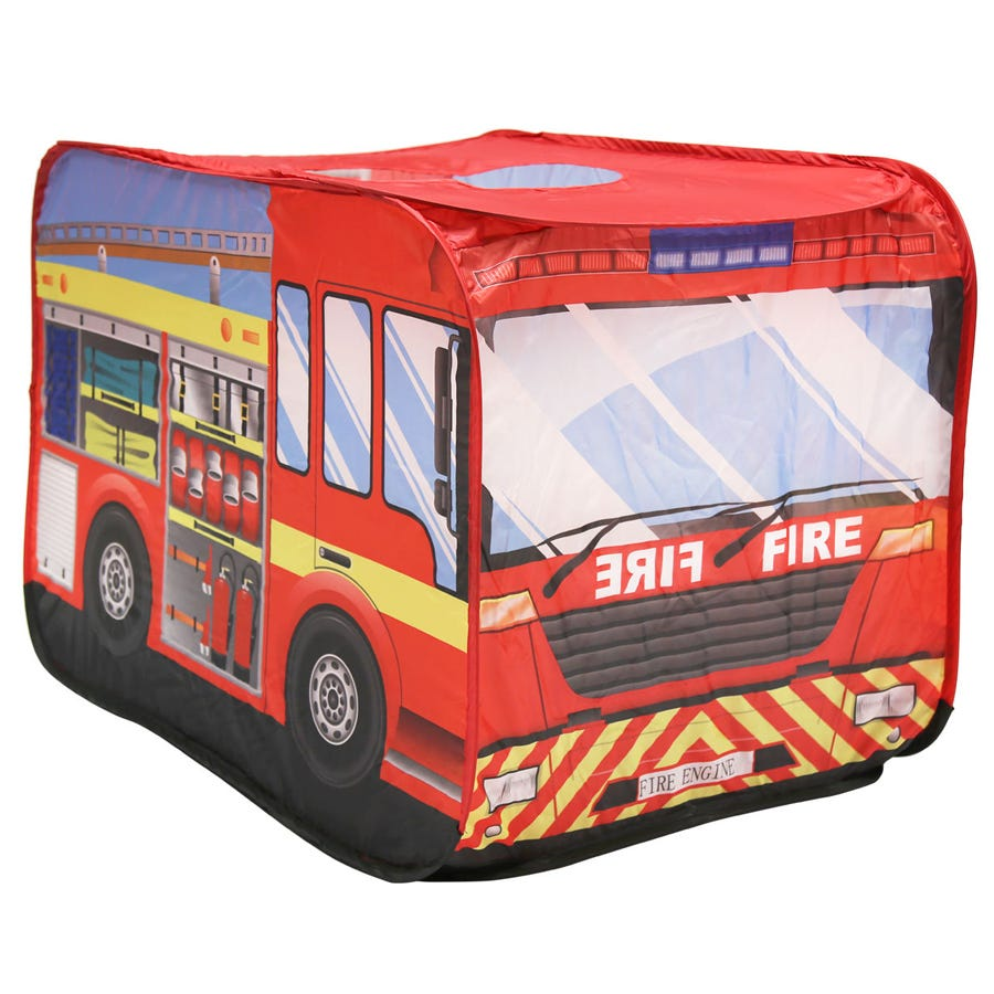 Charles Bentley Fire Engine Play Tent Pop Up