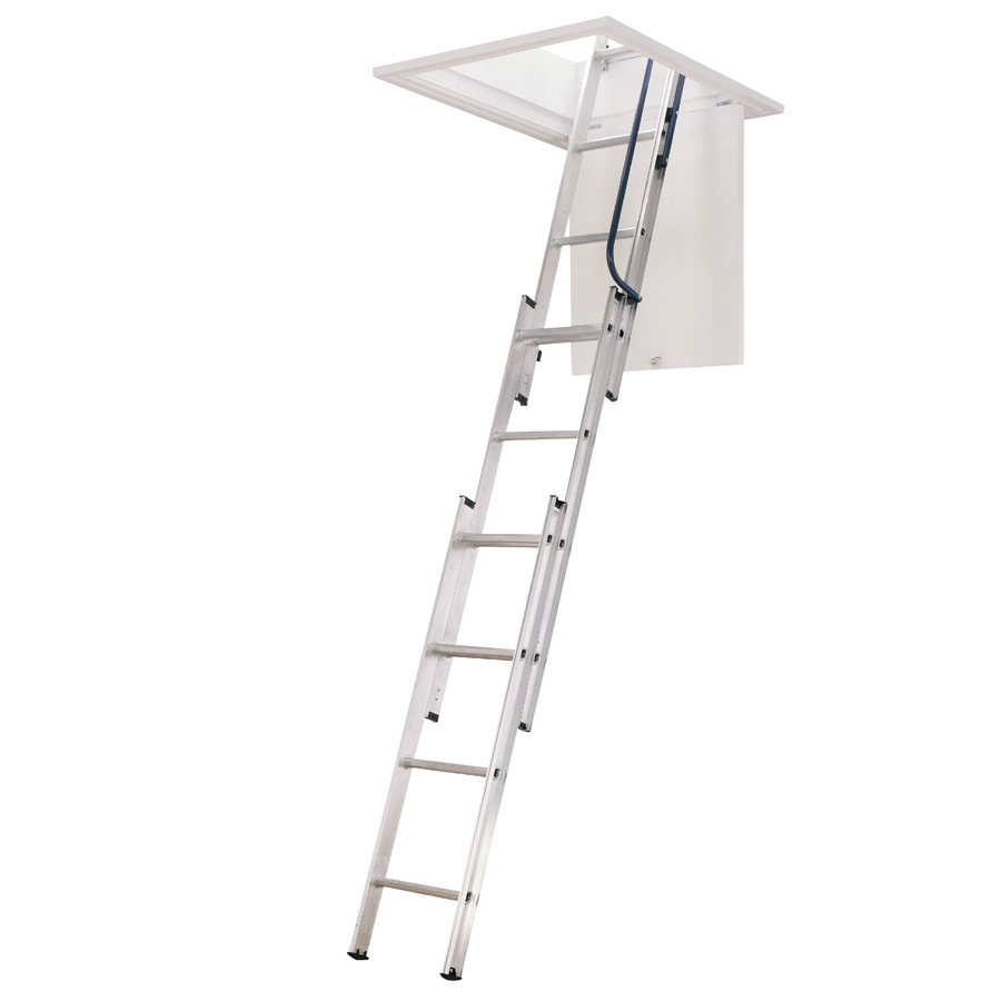 Compare prices for Youngman Abru 3 Section Easy Stow Loft Ladder