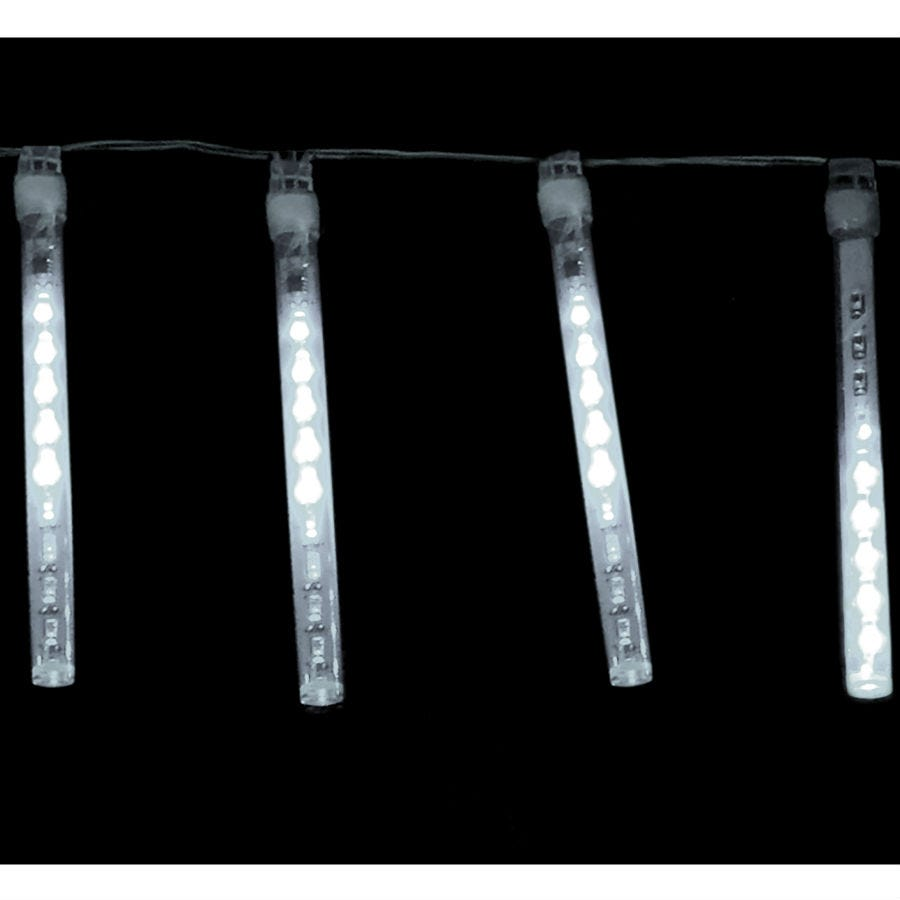 Image of 5 Battery-Operated White LED Shower Lights – 1.5m