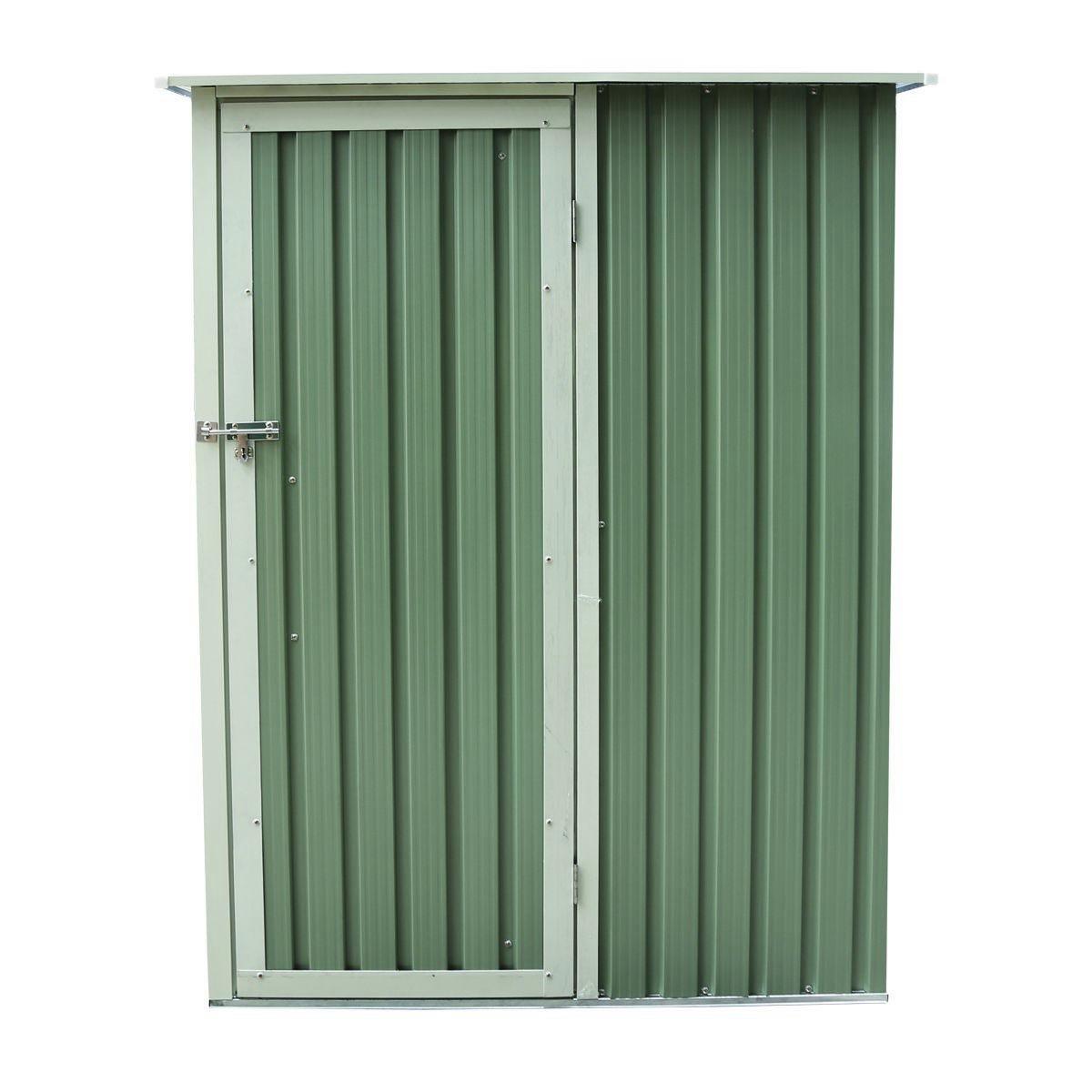 Charles Bentley Garden 4.7ft X 3ft Metal Storage Shed