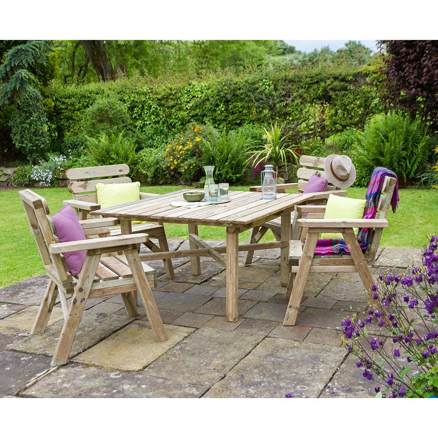 Image of Zest4Leisure Abbey Square Table & 4 Chair Set