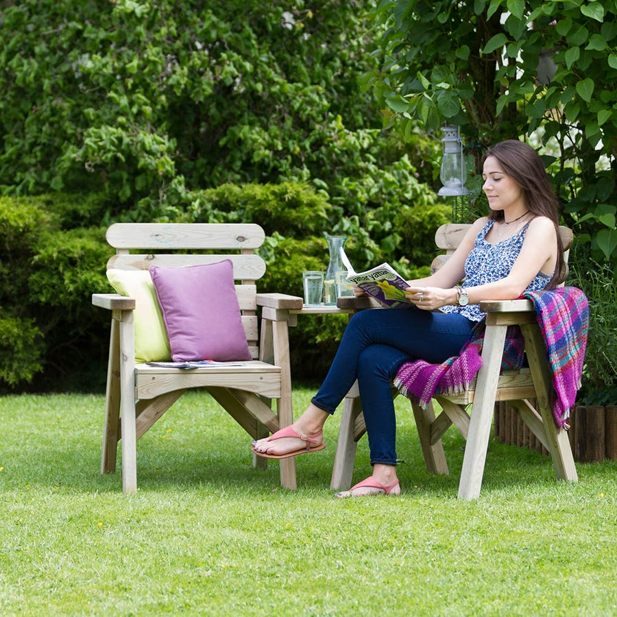 Compare prices for Zest4Leisure Abbey Wooden Companion Seat