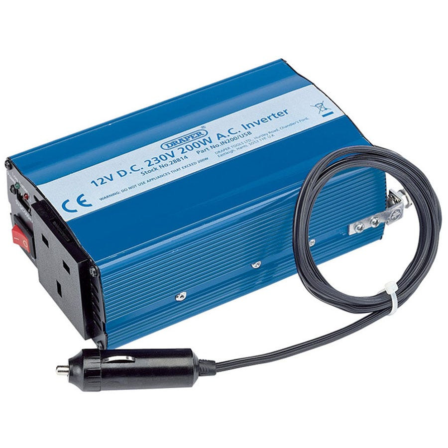 Compare prices for Draper 12V 200W DC-AC Inverter