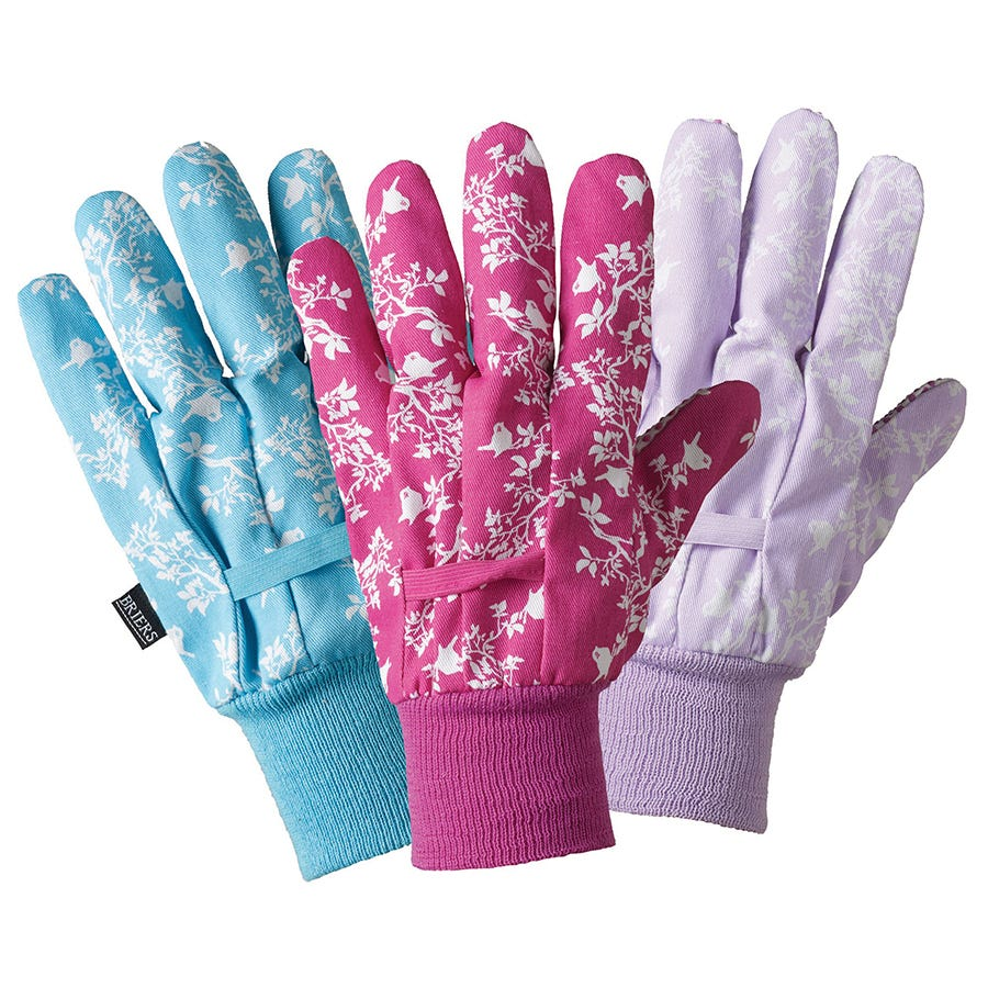 Compare prices for Briers Birds and Branches Cotton Gloves - Pack of 3