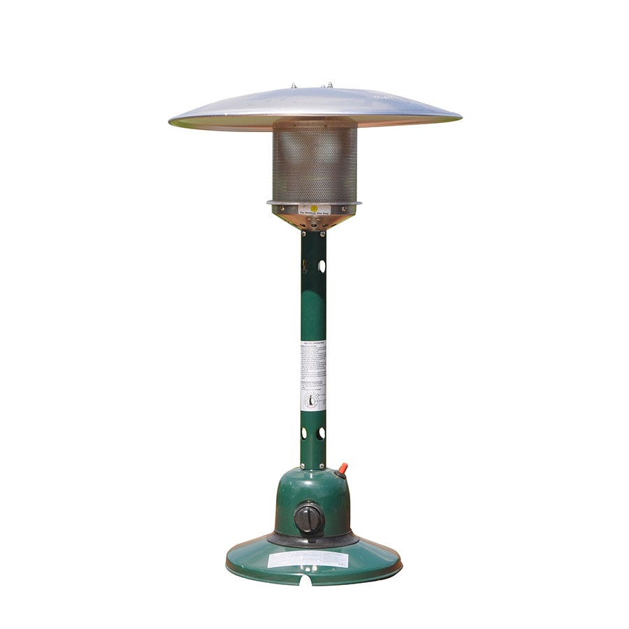 Kingfisher Gas Tabletop Patio Heater - Green
