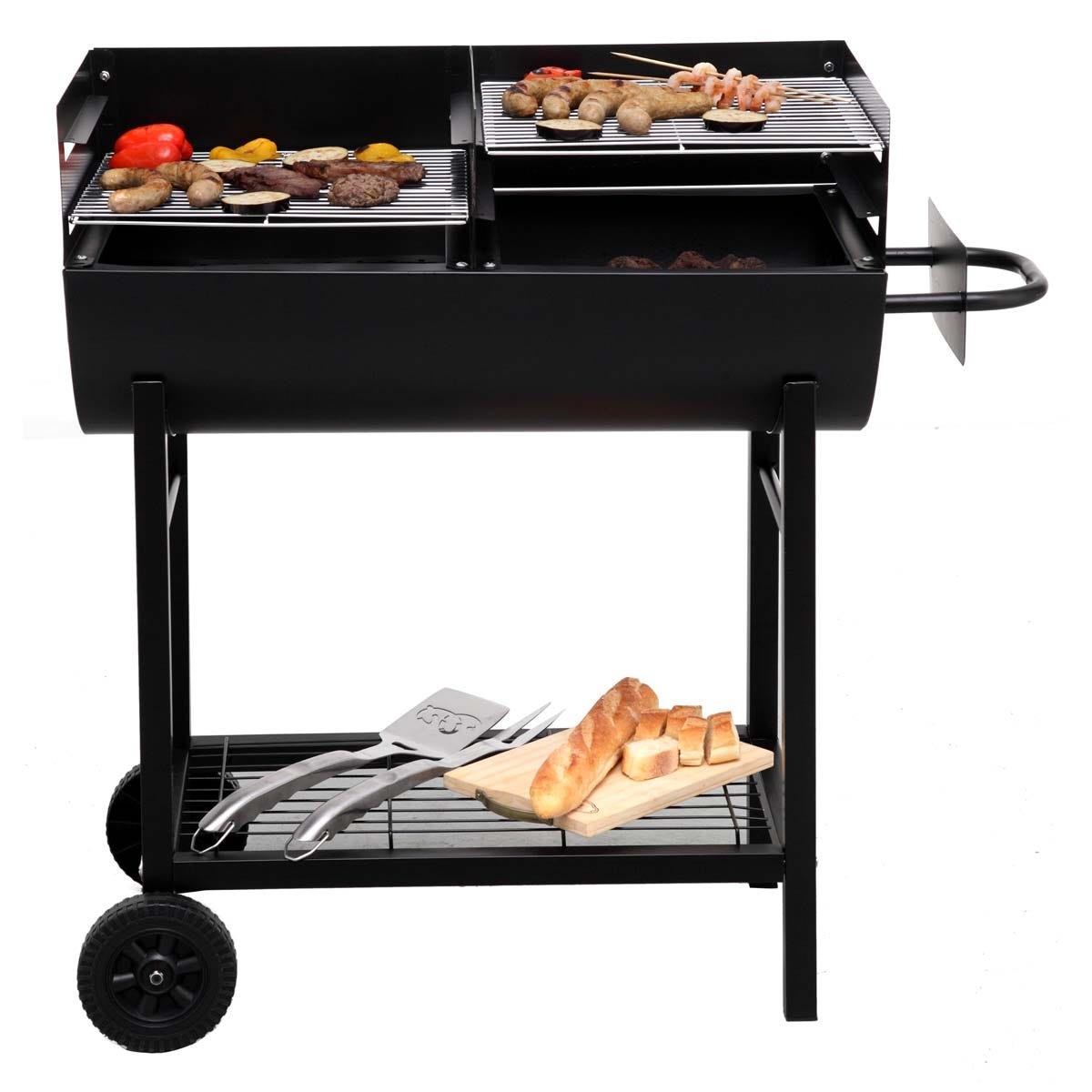 Tepro Detroit BBQ Barrel With Double Grill