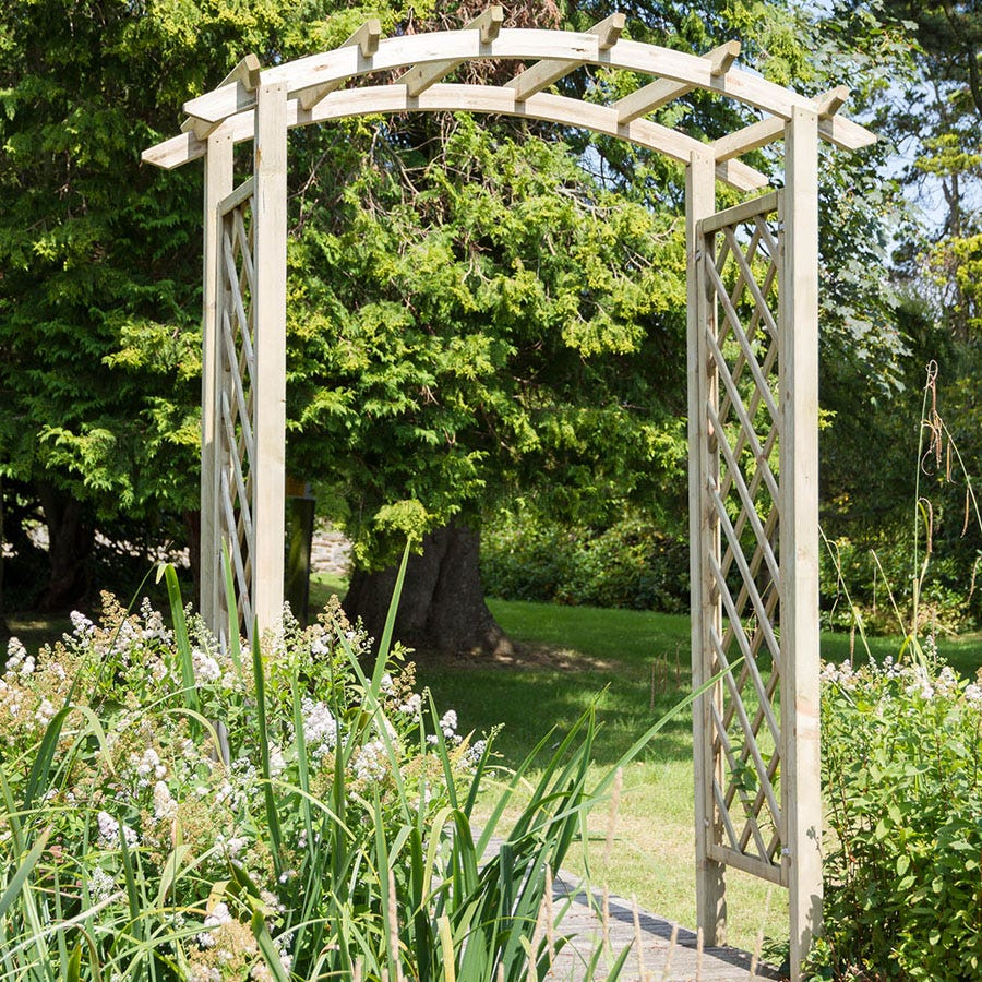 Compare prices for Zest4Leisure Daria Wooden Garden Arch