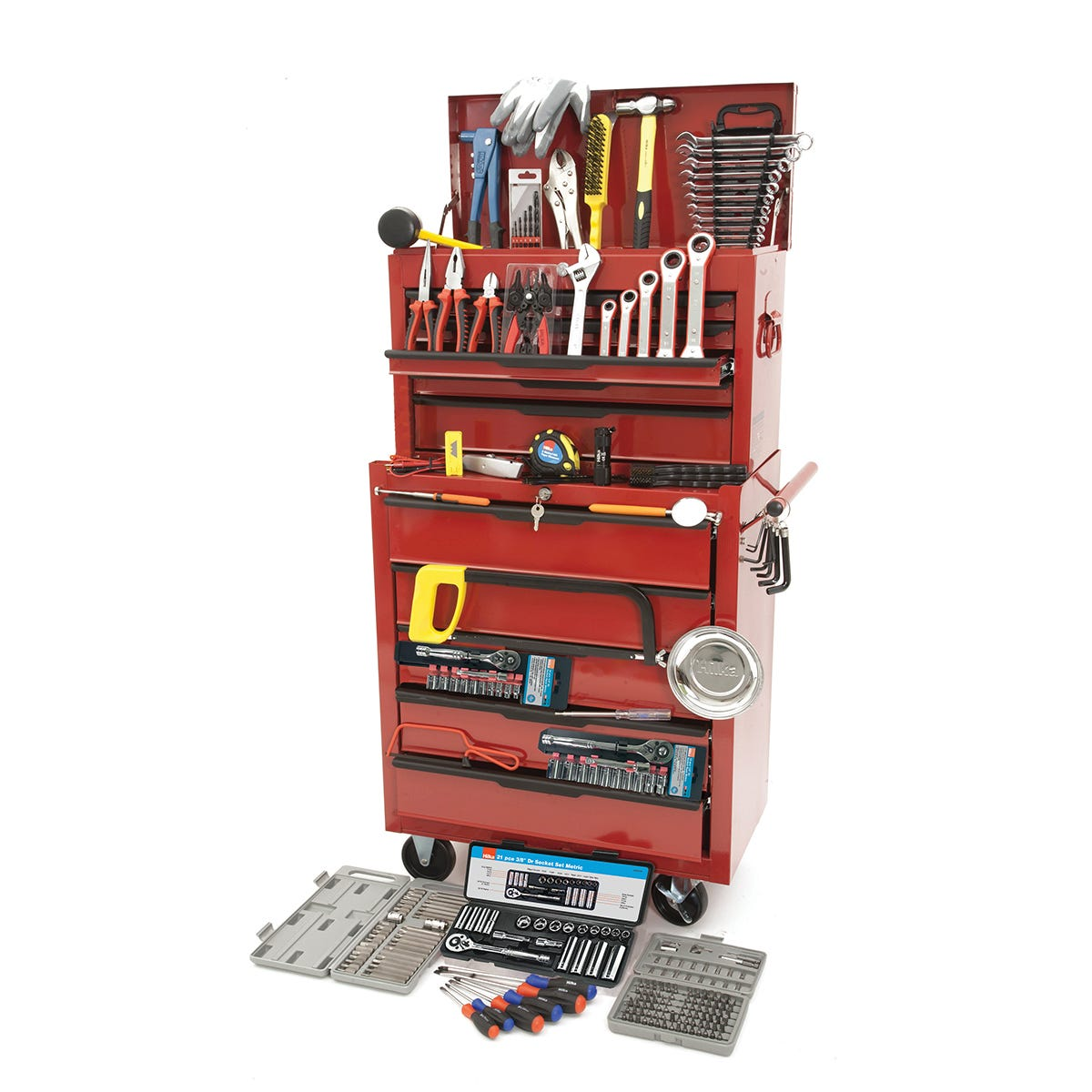Image of Hilka 271 Piece Tool Kit In Heavy Duty Tool Chest And Cabinet