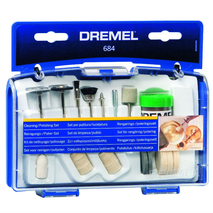 Compare prices for Dremel Cleaning/Polishing Accessory Set