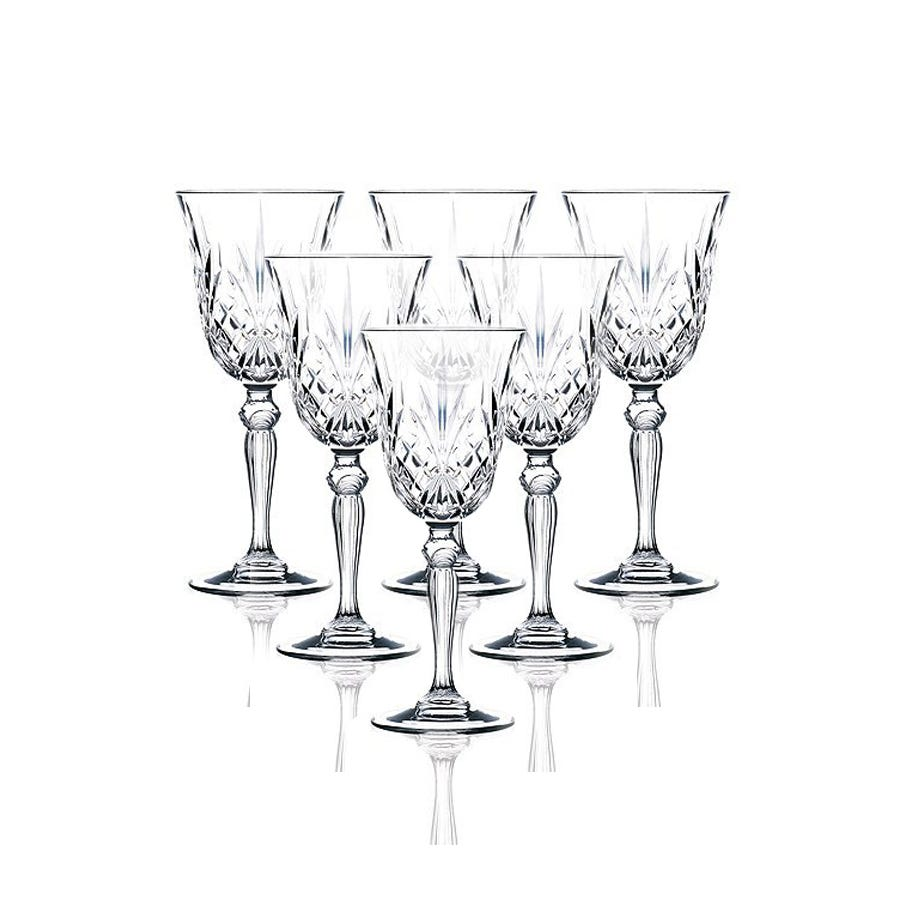 Compare cheap offers & prices of RCR Melodia Wine Glasses - Set of 6 manufactured by RCR