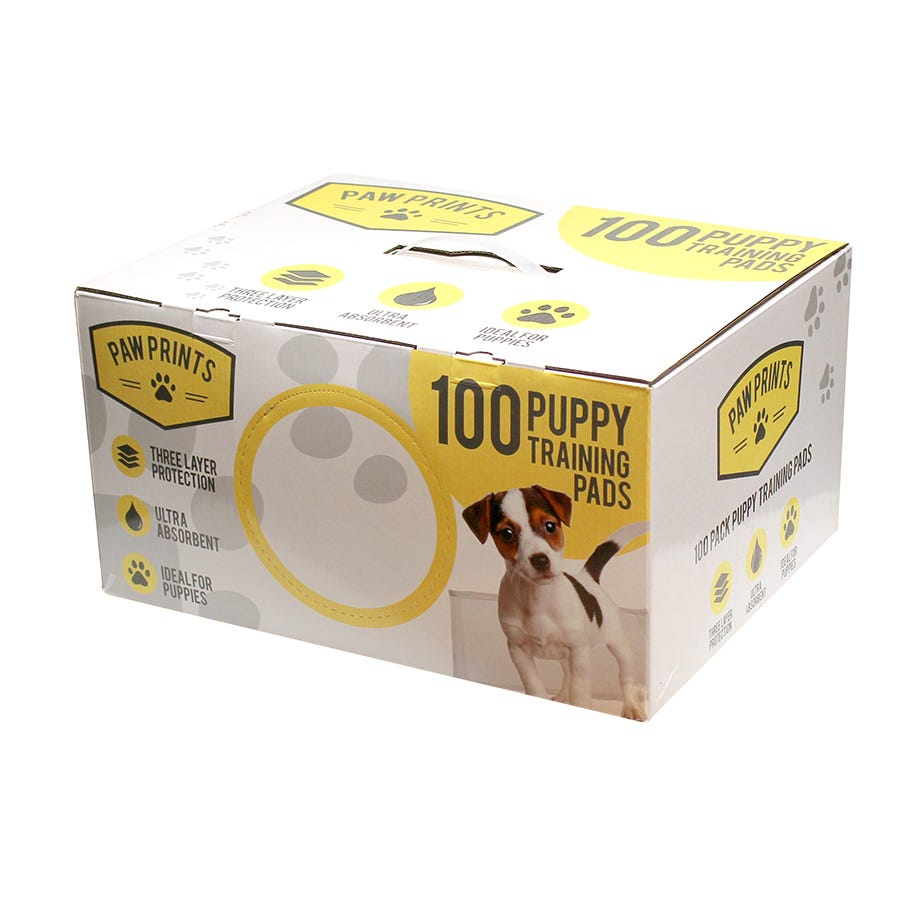 Compare prices for Kingfisher Paw Prints Puppy Training Pads - 100 Pack